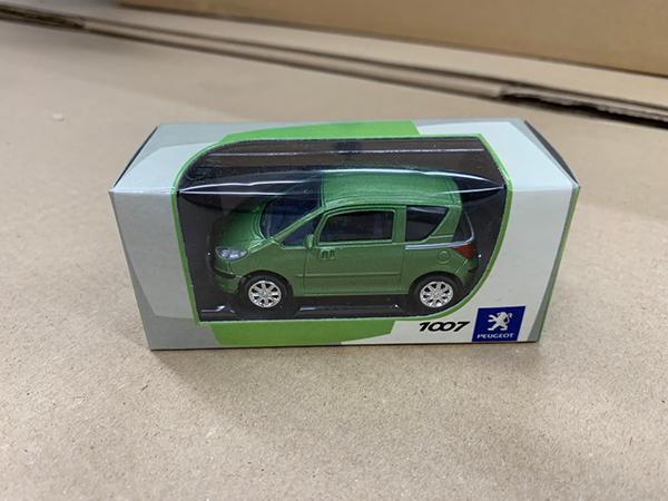 1008greencar Peugeot 1007 Green Model Car