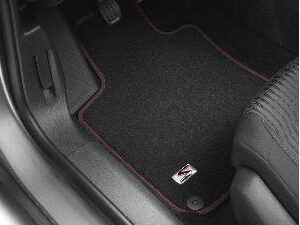 Peugeot 308 2013-2021 Velour Mats Finished With Red Stripe 5 Door 16105322 80