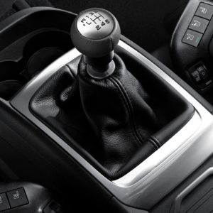 Peugeot 607 1999-2008 Gear Lever Knob For 6-Speed Manual Gearbox Black Leather And Aluminium