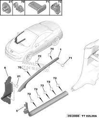 Peugeot 308 2008-2013 A Post Trim