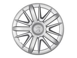 "Peugeot 407 2003-2010 Amarna 15"" Wheel Trim With Peugeot Logo 9607V1"