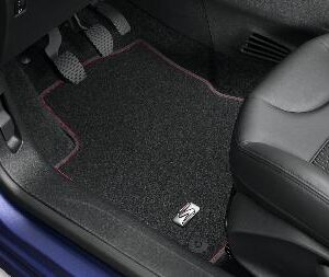 Peugeot 208 2012-2019 Velour Mats Finished With Red Stripe 3 Door 16083971 80